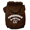 Mirage Pet Products Aberdoggie NY Screenprint Pet Hoodies Brown Size Sm (10)