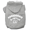Mirage Pet Products Aberdoggie NY Screenprint Pet Hoodies Grey Size XL (16)