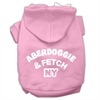 Mirage Pet Products Aberdoggie NY Screenprint Pet Hoodies Light Pink Size Med (12)