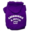 Mirage Pet Products Aberdoggie NY Screenprint Pet Hoodies Purple Size Med (12)