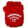 Mirage Pet Products Aberdoggie NY Screenprint Pet Hoodies Red Size Med (12)