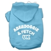 Mirage Pet Products Aberdoggie UK Screenprint Pet Hoodies Baby Blue Size Sm (10)