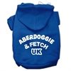 Mirage Pet Products Aberdoggie UK Screenprint Pet Hoodies Blue Size Sm (10)