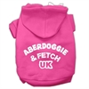 Mirage Pet Products Aberdoggie UK Screenprint Pet Hoodies Bright Pink Size Sm (10)