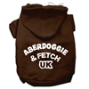 Mirage Pet Products Aberdoggie UK Screenprint Pet Hoodies Brown Size XS (8)