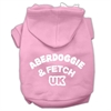 Mirage Pet Products Aberdoggie UK Screenprint Pet Hoodies Light Pink Size Med (12)