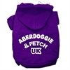Mirage Pet Products Aberdoggie UK Screenprint Pet Hoodies Purple Size Sm (10)