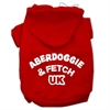 Mirage Pet Products Aberdoggie UK Screenprint Pet Hoodies Red Size XS (8)