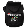 Mirage Pet Products Aberdoggie Christmas Screen Print Pet Hoodies Black Size S (10)
