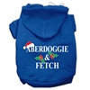 Mirage Pet Products Aberdoggie Christmas Screen Print Pet Hoodies Blue Size S (10)