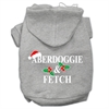 Mirage Pet Products Aberdoggie Christmas Screen Print Pet Hoodies Grey Size XL (16)