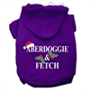 Mirage Pet Products Aberdoggie Christmas Screen Print Pet Hoodies Purple Size S (10)