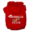 Mirage Pet Products Aberdoggie Christmas Screen Print Pet Hoodies Red Size XS (8)