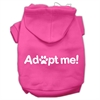 Mirage Pet Products Adopt Me Screen Print Pet Hoodies Bright Pink Size Sm (10)