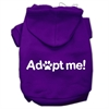 Mirage Pet Products Adopt Me Screen Print Pet Hoodies Purple Size Sm (10)