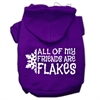 Mirage Pet Products All my friends are Flakes Screen Print Pet Hoodies Purple Size S (10)