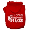 Mirage Pet Products All my friends are Flakes Screen Print Pet Hoodies Red Size S (10)