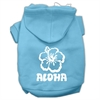 Mirage Pet Products Aloha Flower Screen Print Pet Hoodies Baby Blue Size Sm (10)