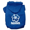 Mirage Pet Products Aloha Flower Screen Print Pet Hoodies Blue Size Lg (14)