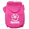 Mirage Pet Products Aloha Flower Screen Print Pet Hoodies Bright Pink Size Sm (10)
