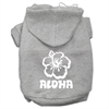 Mirage Pet Products Aloha Flower Screen Print Pet Hoodies Grey Size XL (16)