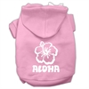 Mirage Pet Products Aloha Flower Screen Print Pet Hoodies Light Pink Size Med (12)