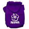 Mirage Pet Products Aloha Flower Screen Print Pet Hoodies Purple Size Sm (10)