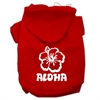 Mirage Pet Products Aloha Flower Screen Print Pet Hoodies Red Size Sm (10)