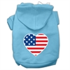 Mirage Pet Products American Flag Heart Screen Print Pet Hoodies Baby Blue Size Lg (14)
