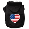 Mirage Pet Products American Flag Heart Screen Print Pet Hoodies Black Size XXL (18)