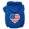 Mirage Pet Products American Flag Heart Screen Print Pet Hoodies Blue Size Sm (10)