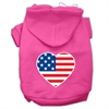 Mirage Pet Products American Flag Heart Screen Print Pet Hoodies Bright Pink Size Sm (10)