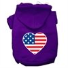 Mirage Pet Products American Flag Heart Screen Print Pet Hoodies Purple Size Sm (10)