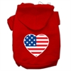 Mirage Pet Products American Flag Heart Screen Print Pet Hoodies Red Size Lg (14)