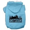 Mirage Pet Products Amsterdam Skyline Screen Print Pet Hoodies Baby Blue Size Sm (10)