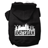 Mirage Pet Products Amsterdam Skyline Screen Print Pet Hoodies Black Size XXL (18)