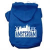 Mirage Pet Products Amsterdam Skyline Screen Print Pet Hoodies Blue Size Sm (10)