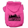 Mirage Pet Products Amsterdam Skyline Screen Print Pet Hoodies Bright Pink Size Sm (10)