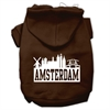 Mirage Pet Products Amsterdam Skyline Screen Print Pet Hoodies Brown Size Sm (10)