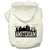 Mirage Pet Products Amsterdam Skyline Screen Print Pet Hoodies Cream Size Sm (10)