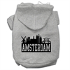 Mirage Pet Products Amsterdam Skyline Screen Print Pet Hoodies Grey Size XL (16)