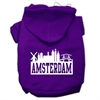 Mirage Pet Products Amsterdam Skyline Screen Print Pet Hoodies Purple Size Sm (10)