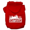 Mirage Pet Products Amsterdam Skyline Screen Print Pet Hoodies Red Size XS (8)