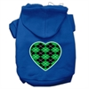 Mirage Pet Products Argyle Heart Green Screen Print Pet Hoodies Blue Size Sm (10)