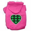 Mirage Pet Products Argyle Heart Green Screen Print Pet Hoodies Bright Pink Size Sm (10)