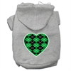 Mirage Pet Products Argyle Heart Green Screen Print Pet Hoodies Grey Size XXXL (20)
