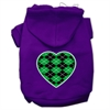 Mirage Pet Products Argyle Heart Green Screen Print Pet Hoodies Purple Size Sm (10)