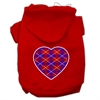 Mirage Pet Products Argyle Heart Purple Screen Print Pet Hoodies Red Size Sm (10)