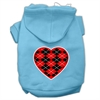 Mirage Pet Products Argyle Heart Red Screen Print Pet Hoodies Baby Blue Size Sm (10)