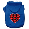 Mirage Pet Products Argyle Heart Red Screen Print Pet Hoodies Blue Size Sm (10)